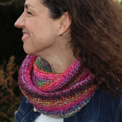 Easy Snood project met Noro Obi