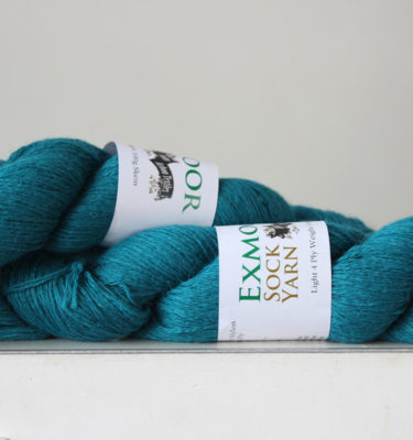 Exmoor sock yarn Peacock
